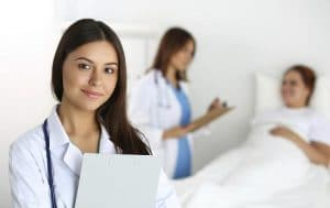 focused picture of a doctor