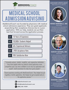 MedSchoolCoach Admissions Advising Flyer