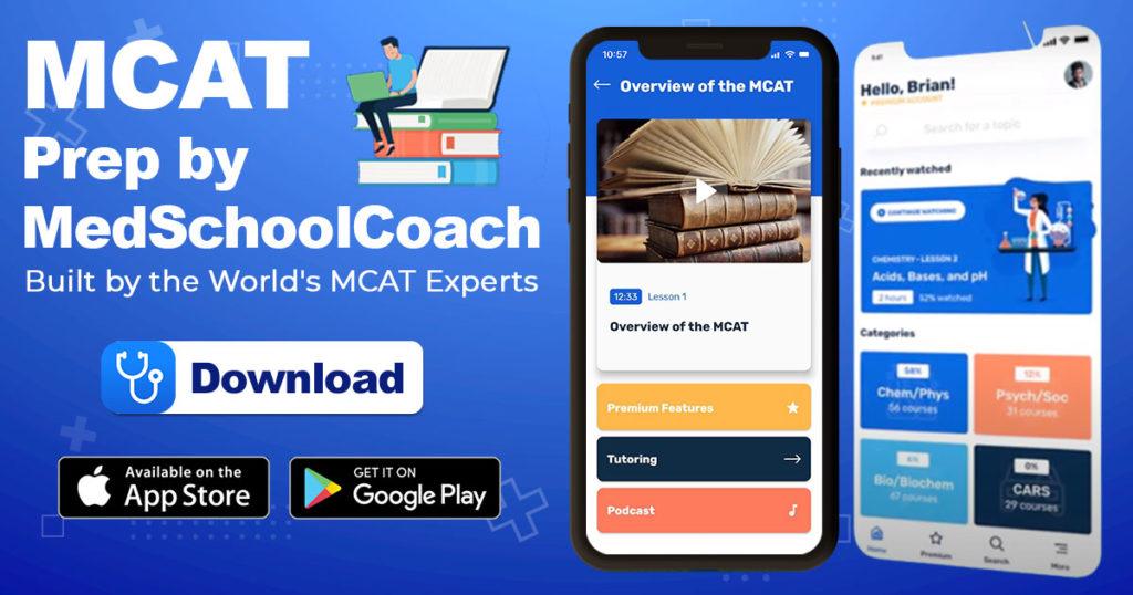 MCAT Prep Mobile App by MedSchoolCoach